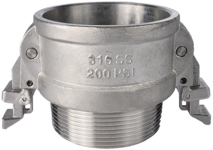Heavy wall double lock stainless steel couplings